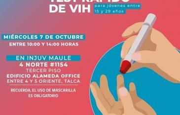 INJUV realizará toma de PCR y test rápido de VIH gratis para los jóvenes de la región