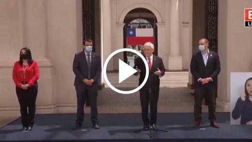 Presidente Piñera firma decreto que convoca a miembros constituyentes y solicitó respeto a las leyes actuales ante proyectos que anuncian adelantar elección presidencial