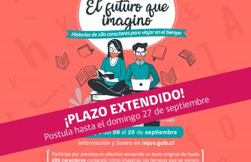INJUV invita a participar de Concurso de microrrelatos : cuéntanos sobre el futuro y gana hasta $500 mil